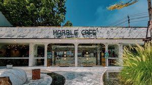 Marble Cafe คาเฟ่ลายหินอ่อน ย่านพระราม 9 ศรีนครินทร์