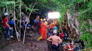 นักศึกษาอินโดนีเซียติดถ้ำ 'เลเล' หลังเกิดฝนตก น้ำท่วมปิดปากถ้ำ
