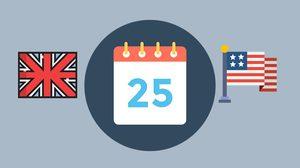 การเขียนวันที่ภาษาอังกฤษ แบบ British - American เขียนวันที่ให้เข้าใจตรงกัน