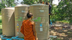 คนร้ายลอบวางยาฆ่าหญ้าในถังเก็บน้ำ หวังฆ่าพระทั้งวัด