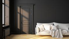 ไอเดียแต่ง ห้องนั่งเล่นสีขาวดำ เรียบง่ายและมีสไตล์แบบคลาสสิก