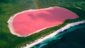 """""""ทะลสาบสีชมพู"""" มหัศจรรย์สีหวานจากธรรมชาติ!"""