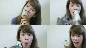 ฟินสุดๆ สาวสวยดีเจจูน ขอลองชิมรสชาติไอศกรีมรสใหม่