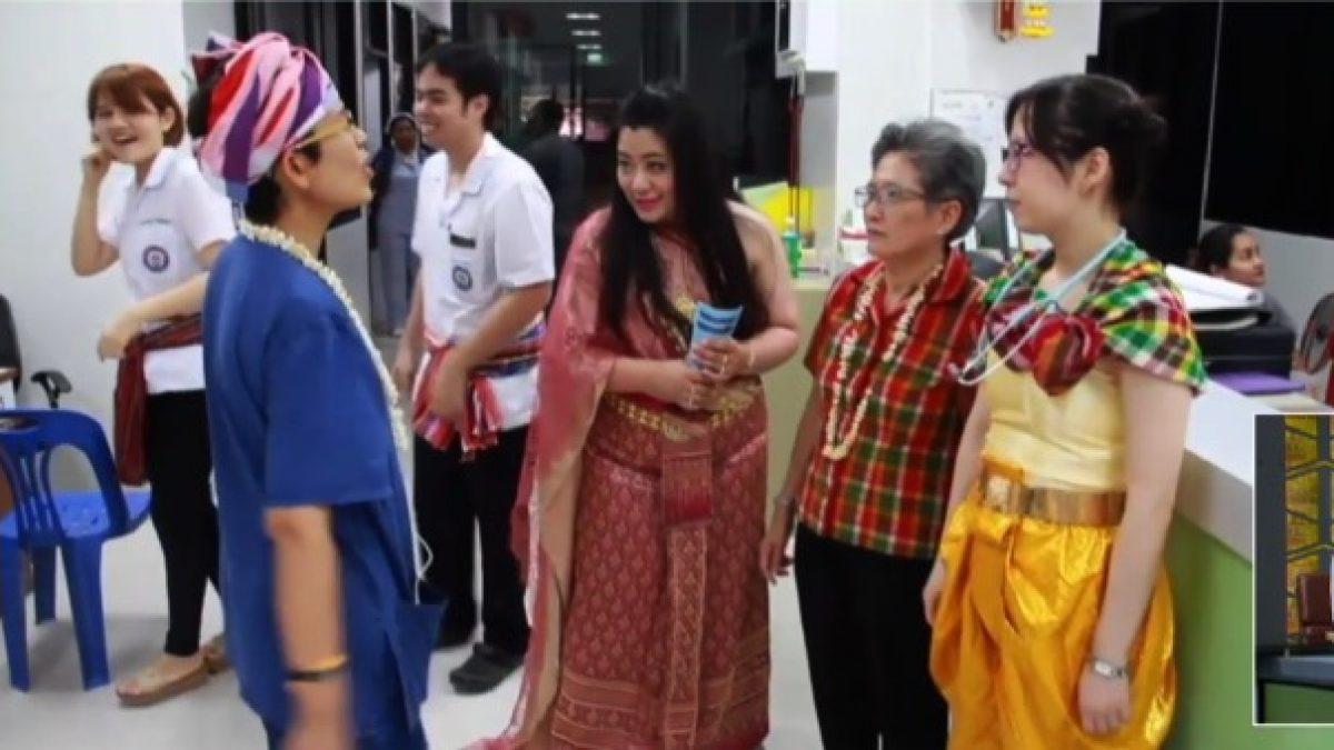 แพทย์พยาบาล รพ.มหาสารคาม แต่งชุดไทยให้บริการผู้ป่วย
