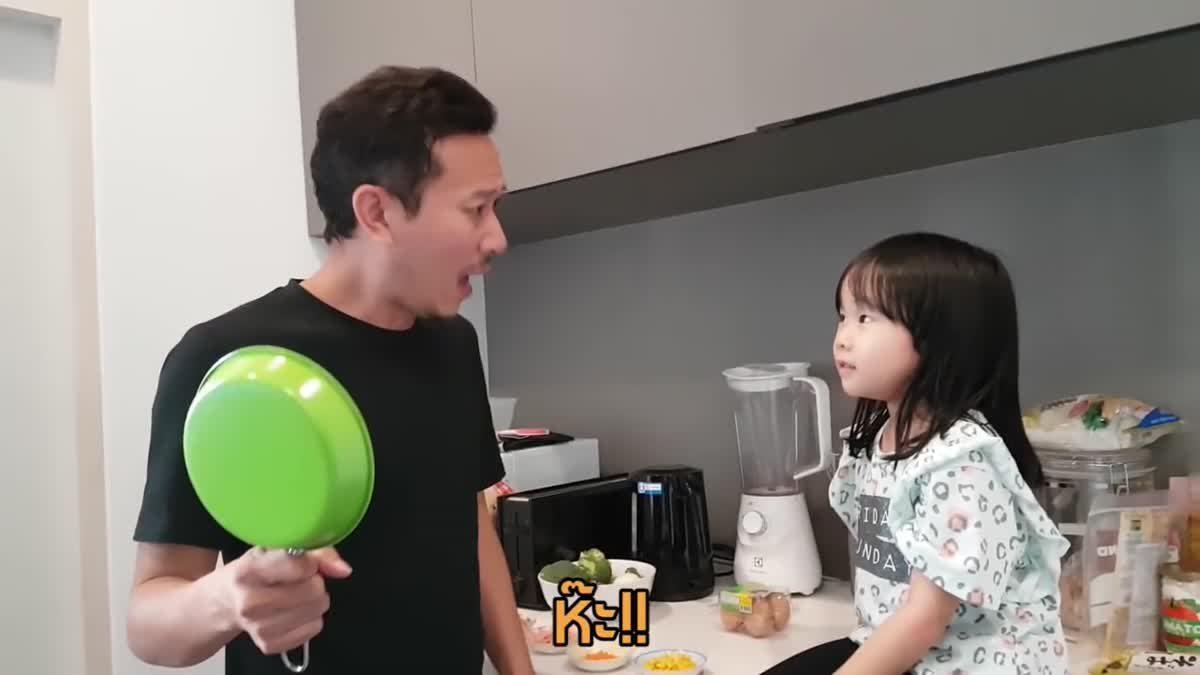 ลูก...พ่อ | เข้าครัวช่วยกันทำไข่กระทะ