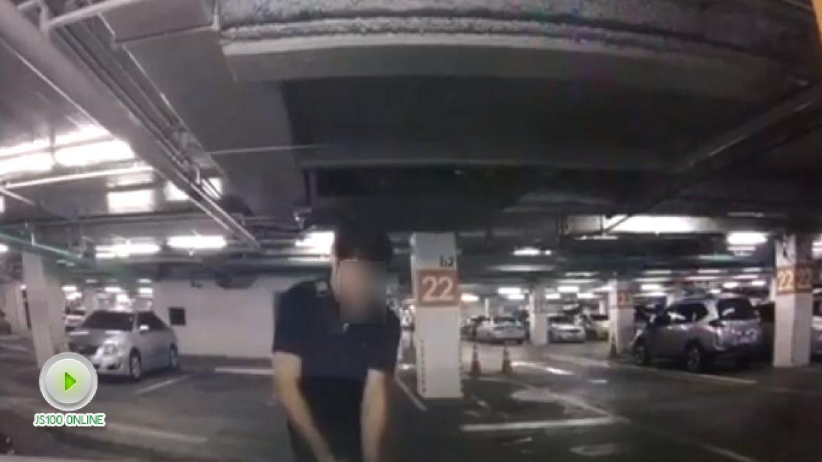 โจรขโมยโลโก้รถยี่ห้อดังพื้นแดง ลานจอดรถห้างย่านศรีนครินทร์