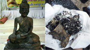 อัศจรรย์! พบพระพุทธรูป – อัฐิอดีตเจ้าอาวาส พ้นจากไฟไหม้
