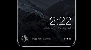 ภาพคอนเซปต์ iPhone 8 หน้าจอไร้ขอบพร้อมสแกนลายนิ้วมือในจอ!!