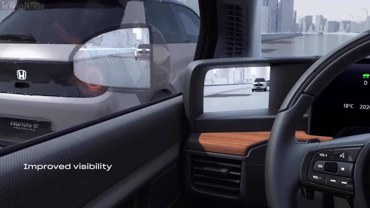 Honda e เหนือชั้นใช้ กล้องกระจกมองข้าง เป็นอุปกรณ์มาตรฐาน