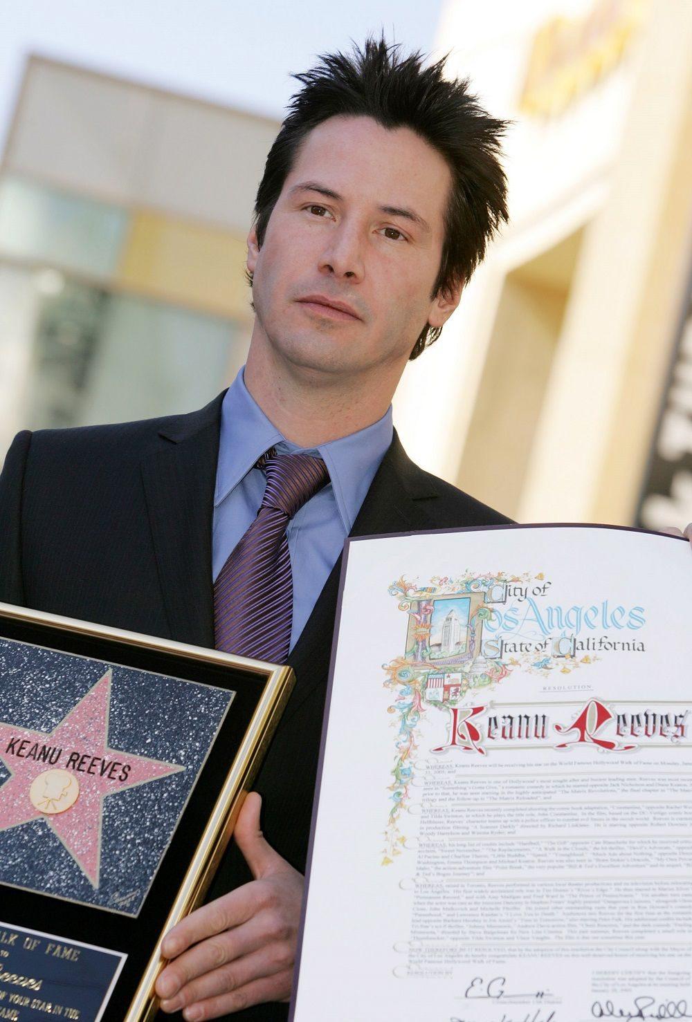 คีอานู รีฟส์ จารึกชื่อบน Hollywood Walk of Fame