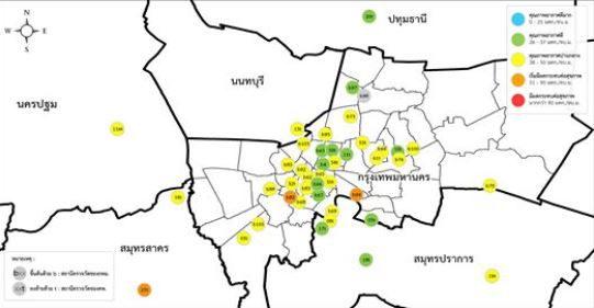 เผยสถานการณ์ฝุ่นละออง PM2.5 ประจำวันที่ 19 ม.ค. 62