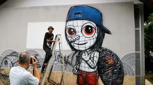 ฮือฮา! graffiti บนฝาผนังโรงสูบน้ำ นำร่องงานศิลปะทั่วเมืองกระบี่