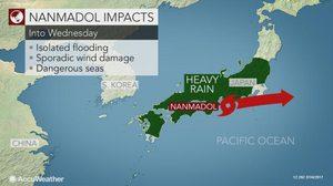 ญี่ปุ่นอ่วม ถูกน้ำท่วมหนัก หลังไต้ฝุ่น 'นันมาดอล' พัดถล่ม