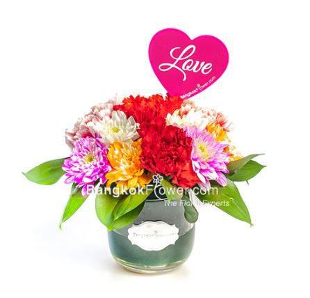 ส่งความรักผ่านช่อดอกไม้