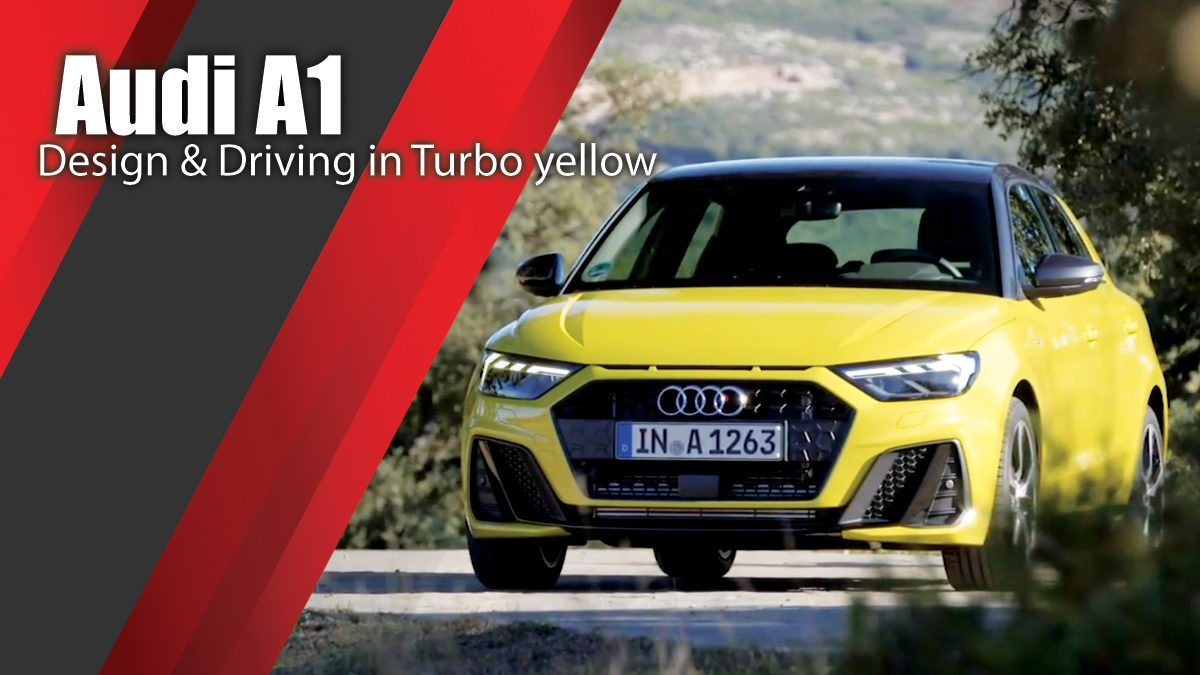 2018 Audi A1 Design & Driving in Turbo yellow