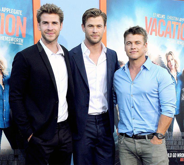 Chris Hemsworth กับพี่และน้องชาย Liam และ Luke
