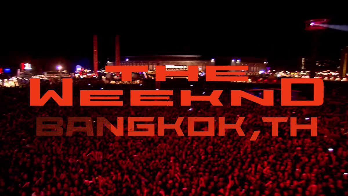 ตัวอย่างคอนเสิร์ตสุดอลังการของ The Weeknd