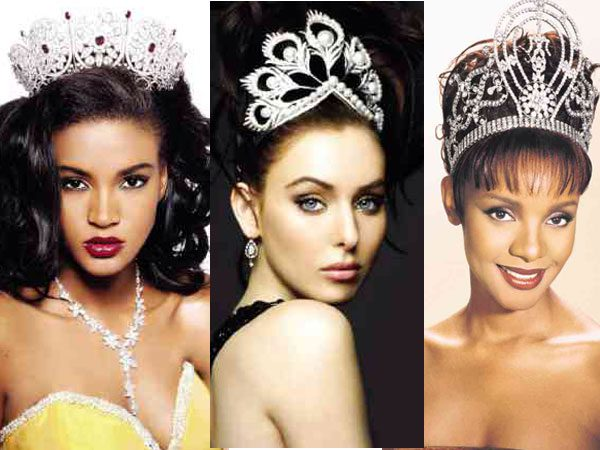The Miss Universe crowns