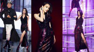 """""""หวง เซิ่งอี"""" นางเอกดังแดนมังกร คว้าชุดไทยดีไซเนอร์ ในลุคนางพญาสวยหรู ใส่ออกรายการที่จีน"""