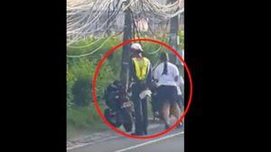 ชื่นชม!  ตร.ภูเก็ตสั่ง 2 นักเรียนหญิงวิ่งรอบรถ หลังทำผิดกฎจราจร