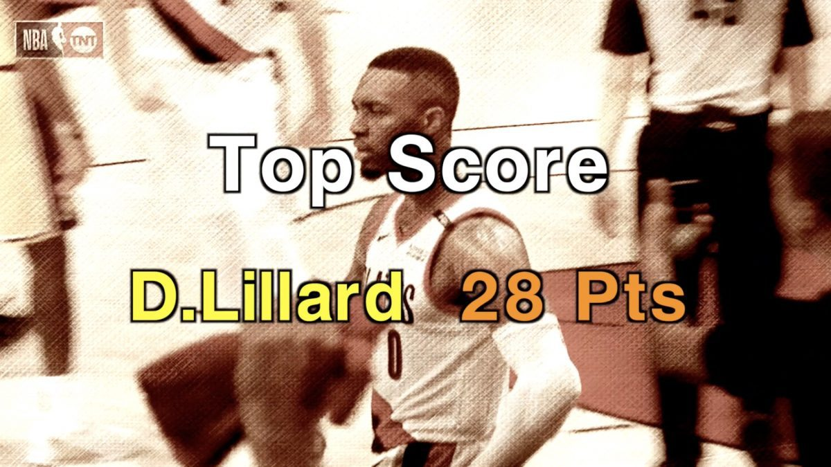 Top Score D.Lillard 28 Pts
