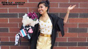 สาวไทยใส่ชุดไทย รับปริญญาโท