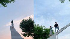ปีนบันไดไปแตะขอบฟ้า ที่ Cielo Cafe ประเทศเกาหลี