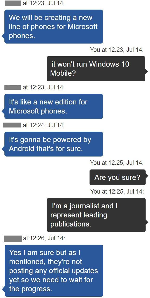 แชทพนักงาน Microsoft