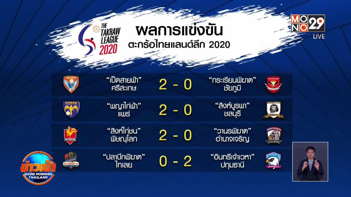 ผลการแข่งขันตะกร้อไทยแลนด์ลีก 2020 สัปดาห์ที่ 13
