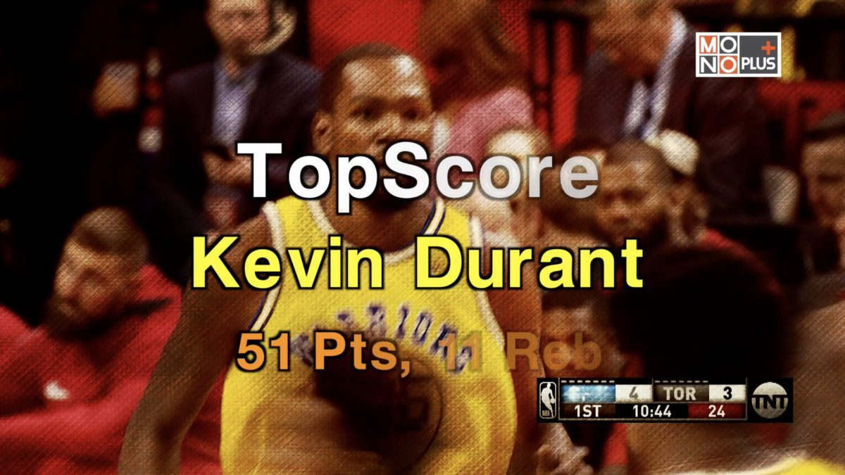 Kevin Durant High Score 51  แต้ม 11 rebound