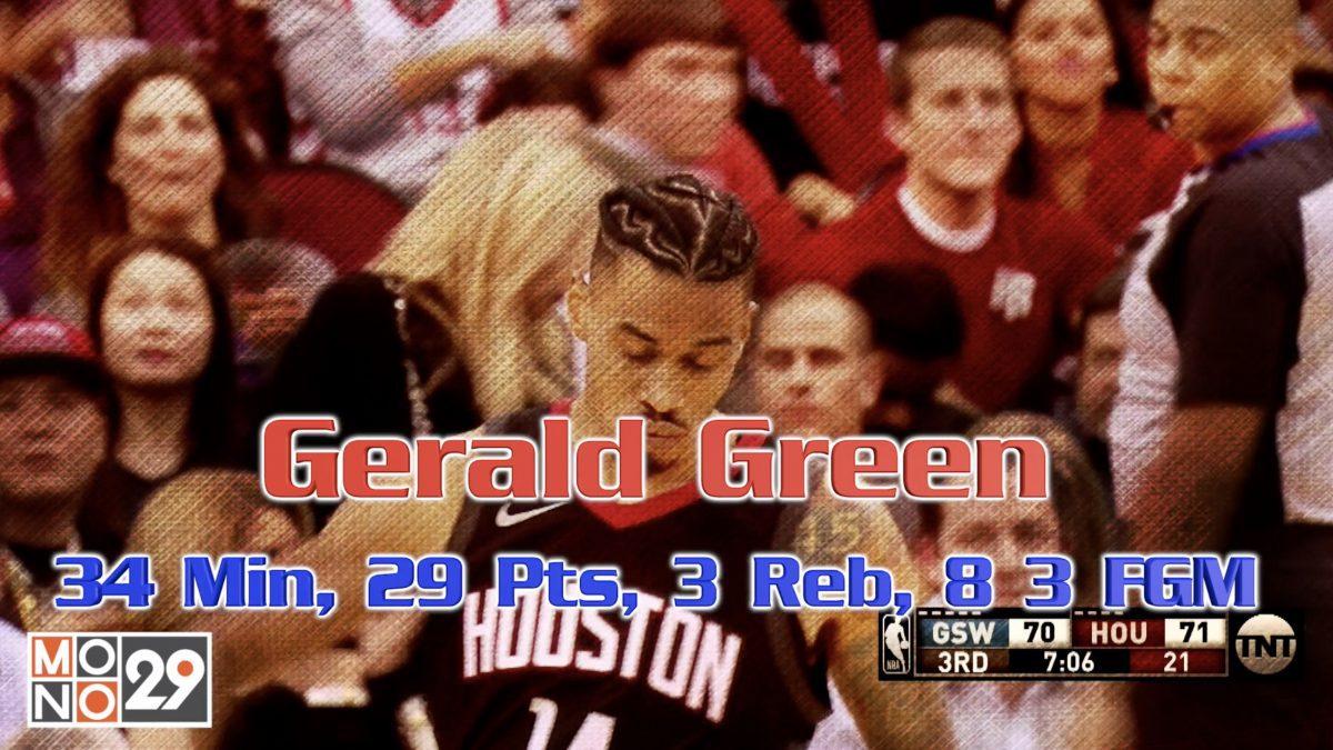 Gerald Green 34 Min , 29 Pts , 3 Reb , 8 3FGM