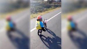 มาด้วยใจ! ชายพิการไม่ท้อ เข้าร่วม 'Bike for Dad' ปั่นเพื่อพ่อ