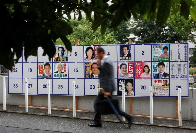 เปิดภาพป้ายหาเสียง สไตล์ญี่ปุ่น-ไต้หวัน หวังรณรงค์ไม่วางป้ายหาเสียงขวางทางเท้า
