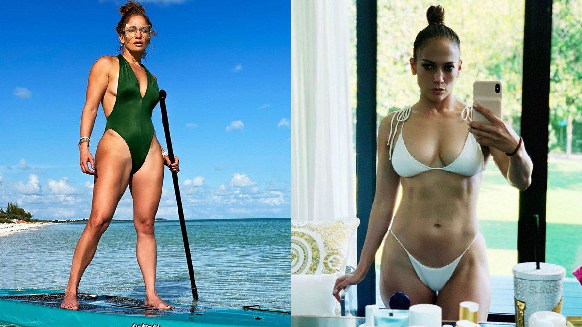 อายุ 51ไม่ใช่ปัญหา เจนนิเฟอร์ โลเปซ กับกล้ามท้องแน่นๆ บนชุดว่ายน้ำ