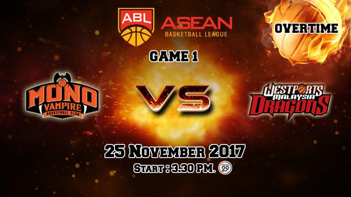 การเเข่งขันบาสเกตบอล ABL2017-2018 : Mono Vampire (THA) VS Dragons (MAS) OT2 (25 Nov 2017)