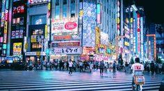 ภาพถ่าย โตเกียวยามค่ำ ใต้แสงไฟนีออนสวยจนอยากตามรอย