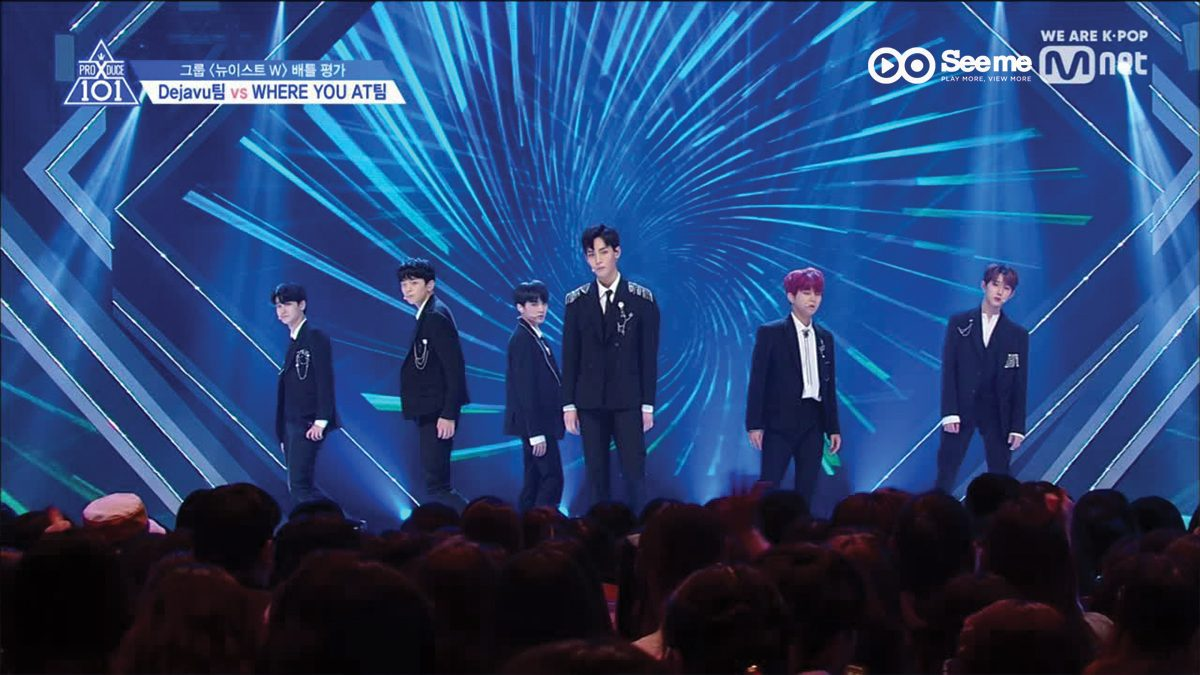 PRODUCE X 101 ㅣทีม 비상탈출 - NU'EST W ♬WHERE YOU AT @การแข่งขันรอบ Group Battle [EP.4]
