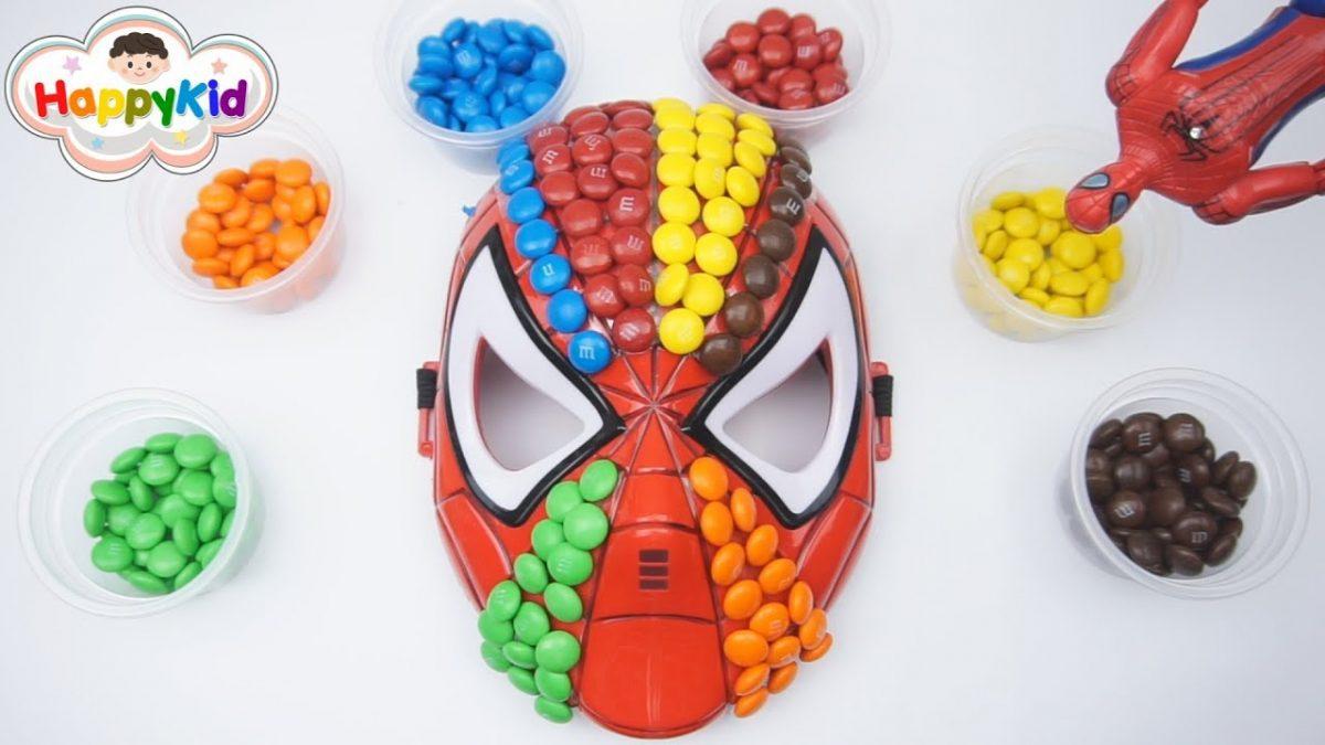 เพลงนิ้วโป้งอยู่ไหน #22 | หน้ากากสไปเดอร์แมน M&M's | เรียนรู้สี | Spider-Man Mask