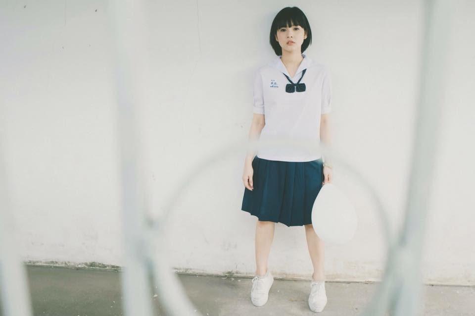 ลูกแก้ว ศรีกานต์ สาวหน้าใส สไตล์ญี่ปุ่น ในชุดนักเรียนไทย น่ารักมาก!