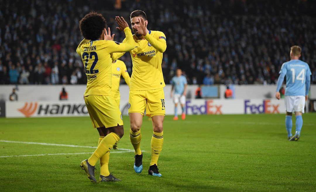 ผลบอล : มัลโม่ vs เชลซี !! สิงห์บลู กู้หน้าบุกเชือด มัลโม่ คารัง 2-1 ยูโรป้า เลกแรก