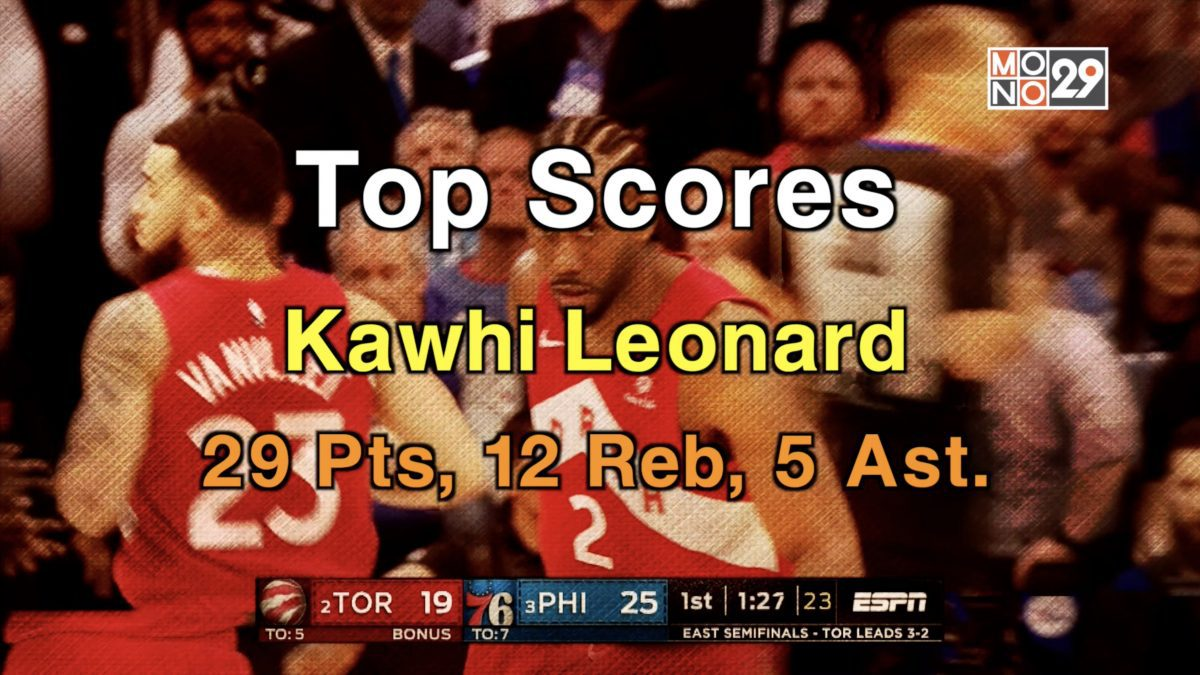 Kawhi Leonard, 29 Pts. 12 Reb. 5 Ast.
