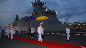 ในหลวง – สมเด็จพระราชินี เสด็จฯ ทรงเจิมเรือหลวงภูมิพลอดุลยเดช