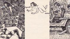 ศิลปะชวนจินตนาการ รูปสาว 2 แง่ 2 ง่าม ที่สามารถต่อเติมได้เกินบรรยาย