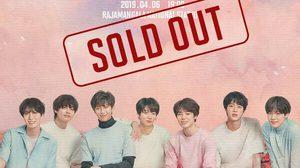 """บัตรคอนเสิร์ตวง BTS ที่ราชมังคลาฯ เกลี้ยงแล้ว! ช็อค! ประกาศขายต่อ """"แสนห้า""""!!"""