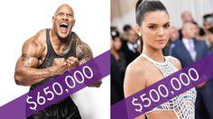 รวย!! 10 อันดับเซเลปที่ทำเงินจาก Instagram ได้อย่างมหาศาลเพียงแค่กระดิกนิ้ว
