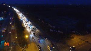 ถนนสายเอเชียชัยนาทเข้า กทม. ปริมาณรถเพิ่มต่อเนื่อง