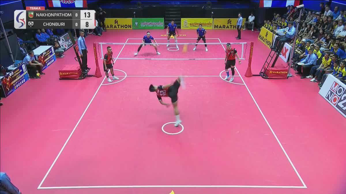คู่ที่ 2 ทีม A : สโมสรตะกร้อ จ.นครปฐม VS สโมสรตะกร้อเกาะจันทร์แคมป์ จ.ชลบุรี   (15-09-2018)