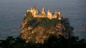 ภูเขาโปปา (Mount Popa) ที่สถิตของ มหาคีรีนัต แห่งพุกาม