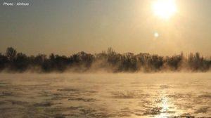 แม่น้ำเหลือง 'เดือด' ในช่วงฤดูหนาว