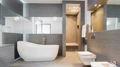 10 ไอเดียแต่ง ห้องน้ำสีเทา เรียบง่ายแบบมีสไตล์
